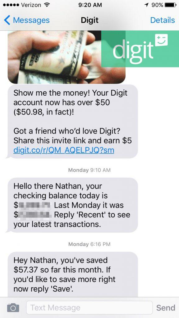 Digit Savings App Walkthrough